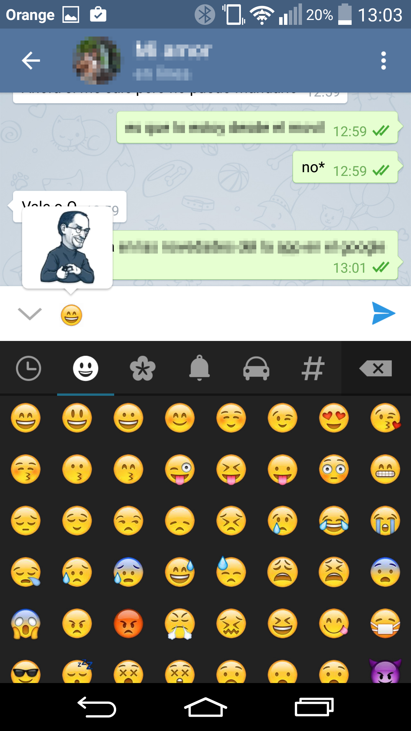 Telegram añade stickers