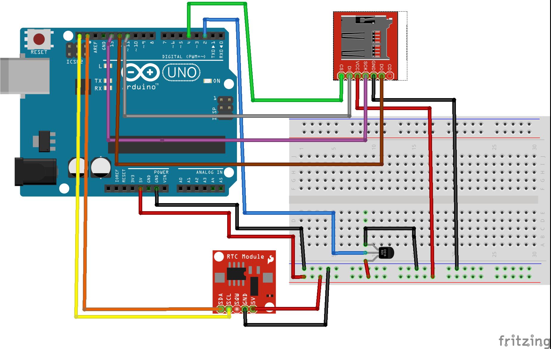 Esquema con modulo micro SD