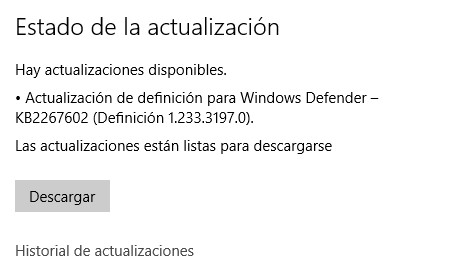 Actualizaciones de Windows 10 desactivadas